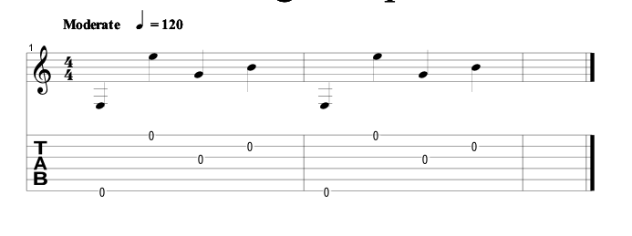 guitar tab for the above video